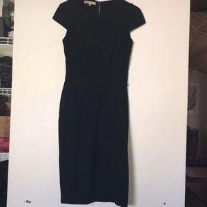 Michael Kors black midi dress